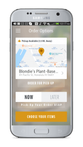 blondie's plant-based food truck google play app