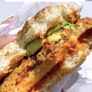Blondie's 100% Plant-Based Breakfast Sandwich Vegan Egg Vegan Cheese Vegan Sausage