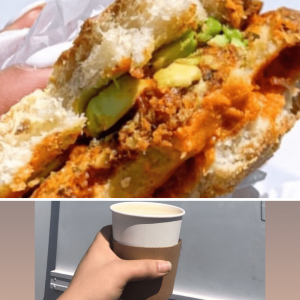 Blondie's Plant-Based Breakfast Sandwich and 12oz Americano