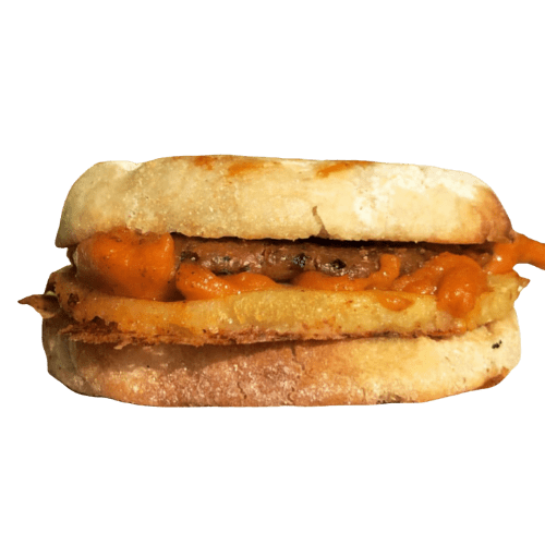 blondies plant based foods of honolulu hawaii blondie's plant-based egg, cheese, sausage breakfast sandwich