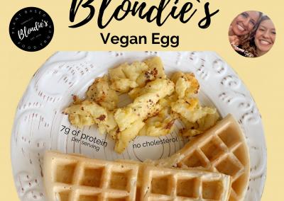 vegan egg plant-based vegan food honolulu hawaii Get Free money from Blondie's Plant-Based Foods!