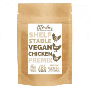 vegan chicken premix made in hawaii with aloha