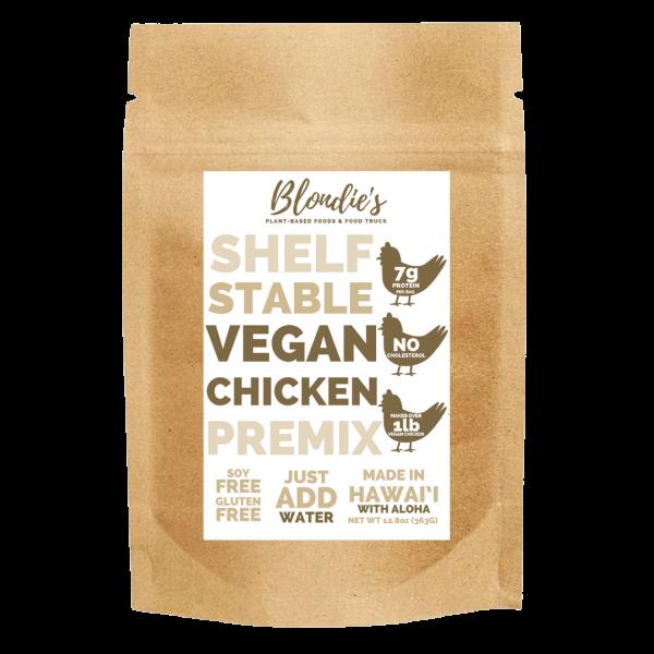 vegan chicken premix made in hawaii with aloha
