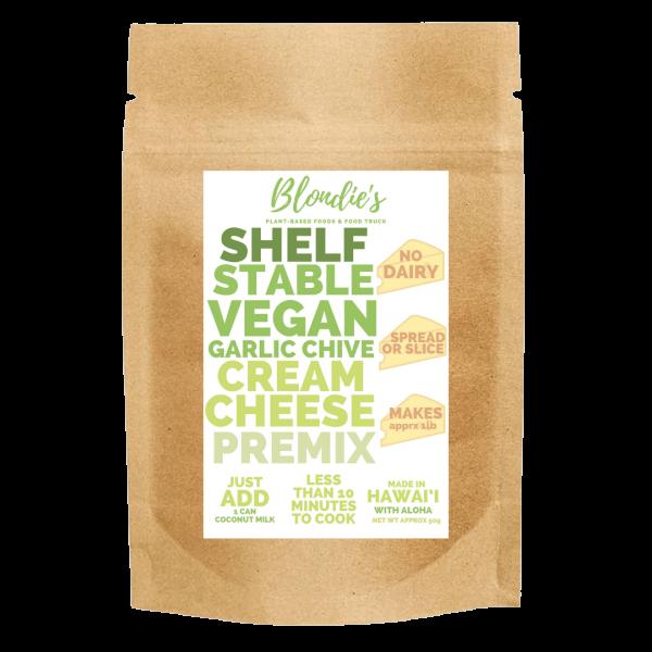 makes 1 lb vegan garlic chive premix new label