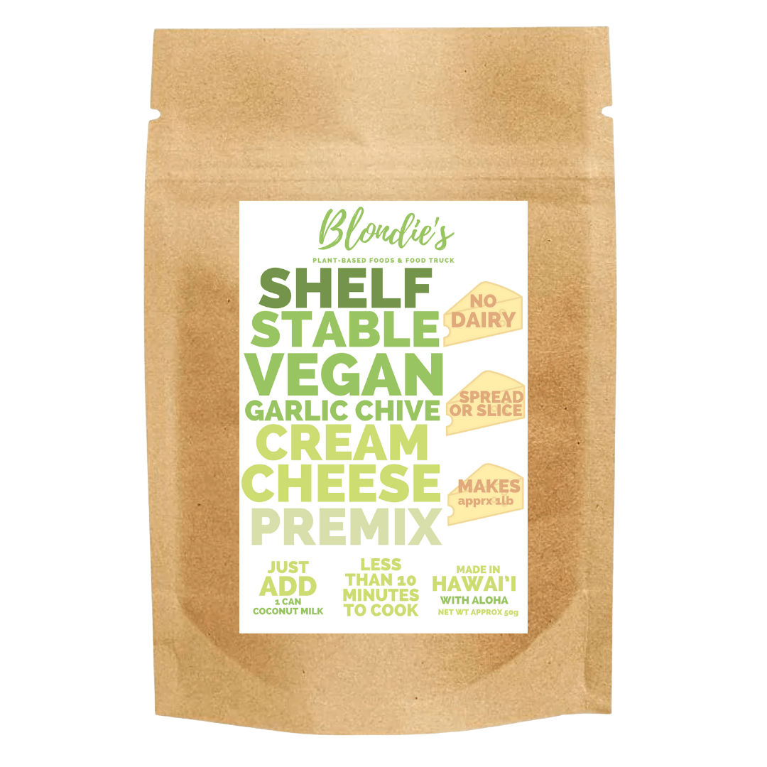 makes 1 lb vegan garlic chive premix new label