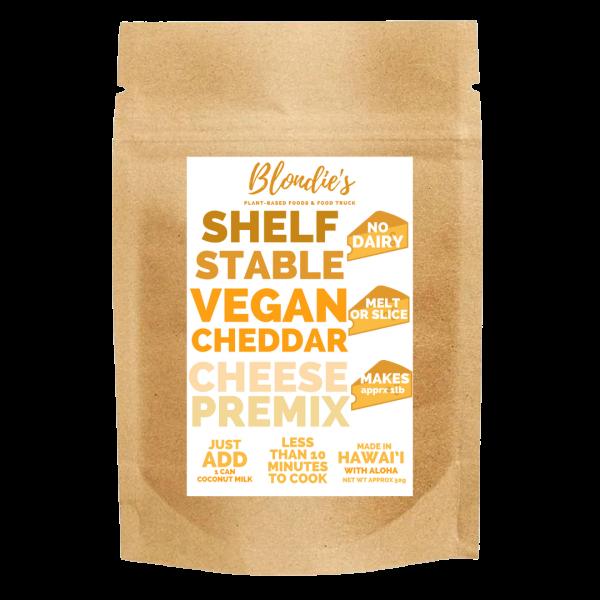 makes 1lb vegan cheddar premix new label