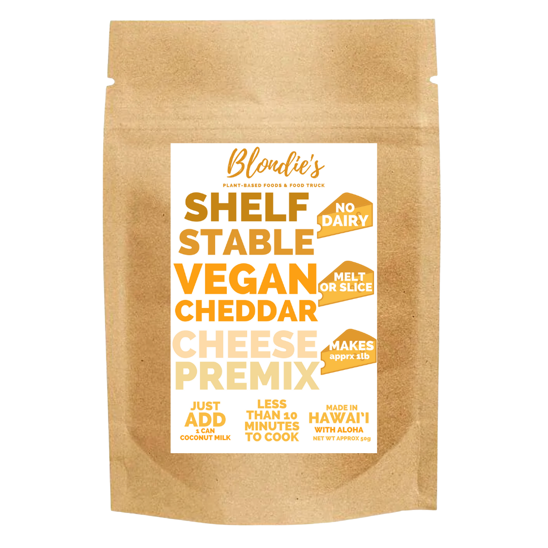 makes 1lb vegan cheddar premix new label