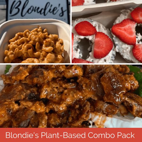 Friends + Family Plant-Based Combo Pack plant-based combo meal blondies plant-based food truck honolulu hawaii vegan food oahu